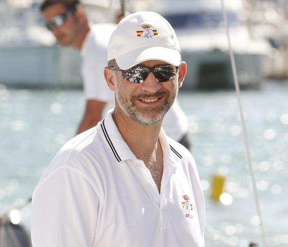 El príncipe Felipe pone fin a sus vacaciones en Mallorca