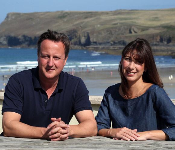 Cameron, de vacaciones en Cornualles