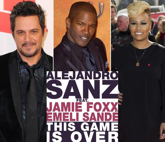 Alejandro Sanz, Jamie Foxx y Emeli Sandé, trío de lujo en 'This game is over'