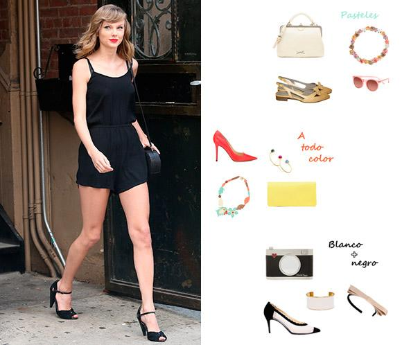 Un 'look' + cuatro tendencias: ¡Pintamos el 'outfit' de Taylor Swift!