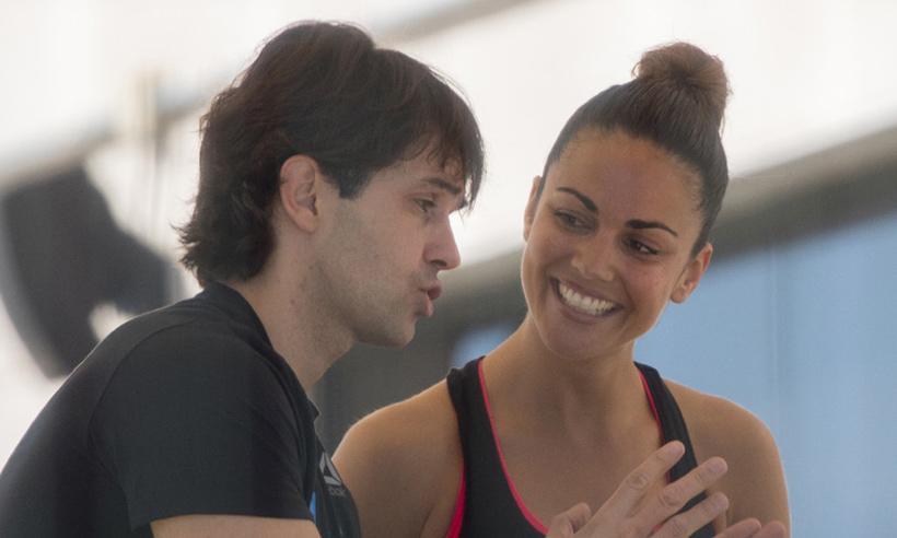 Lara Álvarez se prepara para Supervivientes con la ayuda de su entrenador personal, Iñaki García