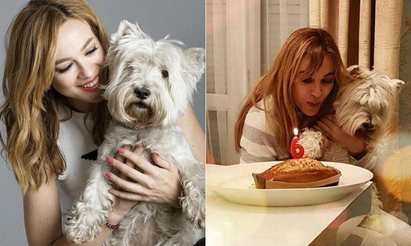 Marta Hazas celebra el cumpleaños de su perrita Robin