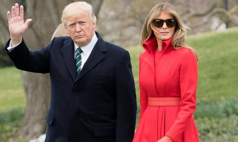 El matrimonio Trump vuela a Florida para su quinto fin de semana en su 'Casa Blanca del Sur'