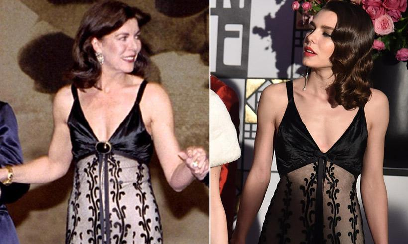 Carlota Casiraghi luce un vestido de su madre, Carolina de Mónaco, con mensaje para Dimitri Rassam