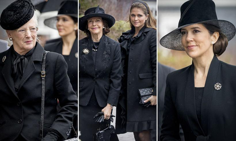 Último adiós al príncipe Richard, marido de Benedicta de Dinamarca