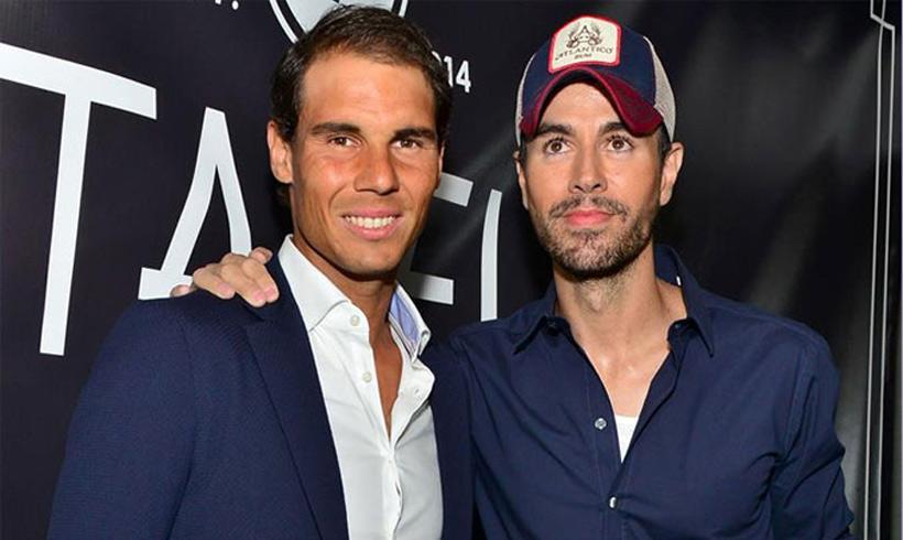Rafa Nadal y Enrique Iglesias, juntos en Miami