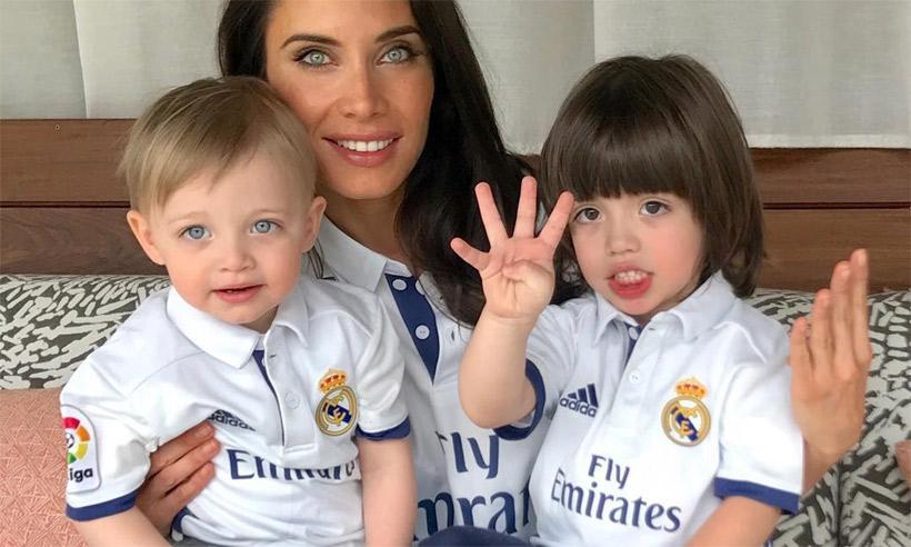 Pilar Rubio y sus hijos felicitan a Sergio Ramos con una tierna imagen