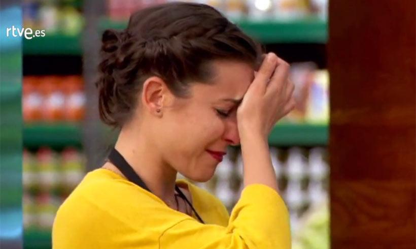 Elena se despide de MasterChef entre lágrimas