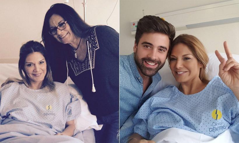 Ivonne Reyes se recupera de su operación rodeada de los que más quiere