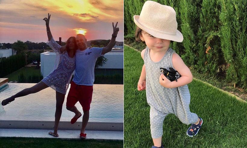 Andrés Iniesta y Anna Ortiz, de vacaciones y celebrando el primer mes de su tercera hija