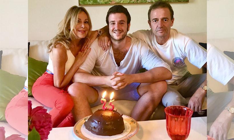 Aless Lequio reúne a sus padres en su 25 cumpleaños