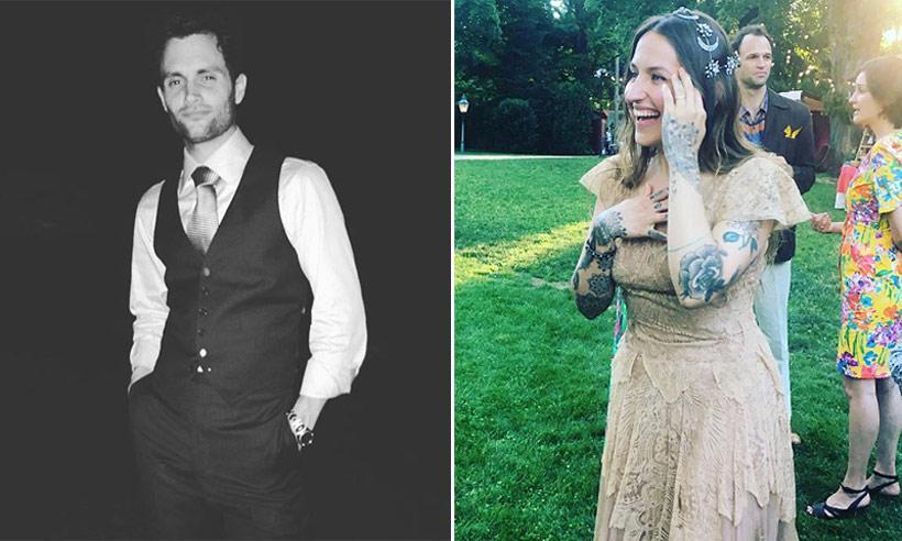 Penn Badgley ('Gossip Girl') y Domino Kirke vuelven a celebrar su boda