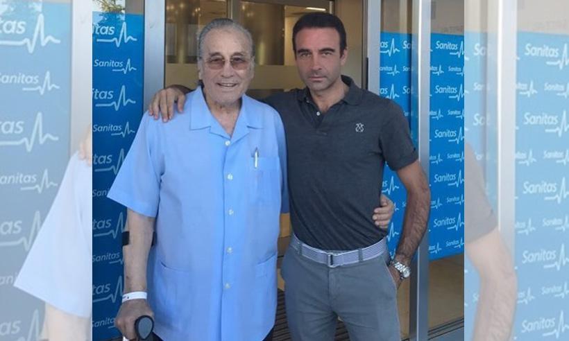 Enrique Ponce comparte una buena noticia: su suegro, Victoriano Valencia, recibe el alta hospitalaria