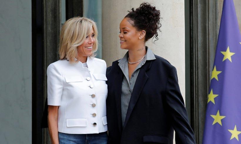 Brigitte Macron y Rihanna en el Elíseo: dos formas de entender la moda francesa