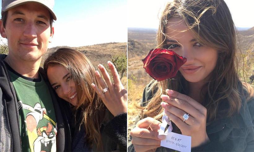 El actor Miles Teller se ha comprometido