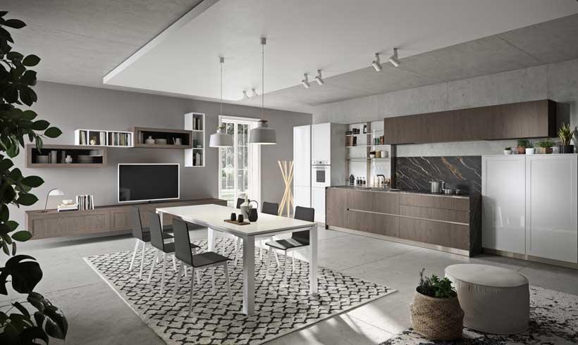 Cocinas abiertas al salón y al comedor: una nueva forma de vida en ...