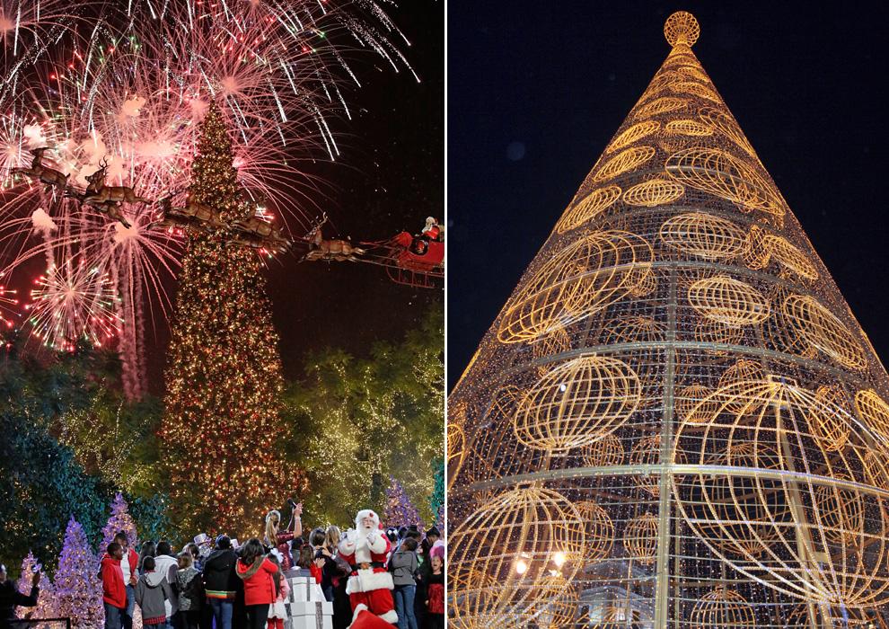 El árbol de Navidad de Los Ángeles es uno de los más espectacular, pero el árbol de Navidad ubicado en la Puerta del Sol de Madrid no tiene nada que envidiarle. Está patrocinado por Loterías y Apuestas del Estado y tiene 35 metros de alto. Además, como novedad, junto a él se ha instalado un bombo de Lotería, en cuyo interior se encontraban bolas de madera con un número, que irán siendo entregadas a los ciudadanos que se acerquen como gesto de buena suerte para el sorteo de Navidad.