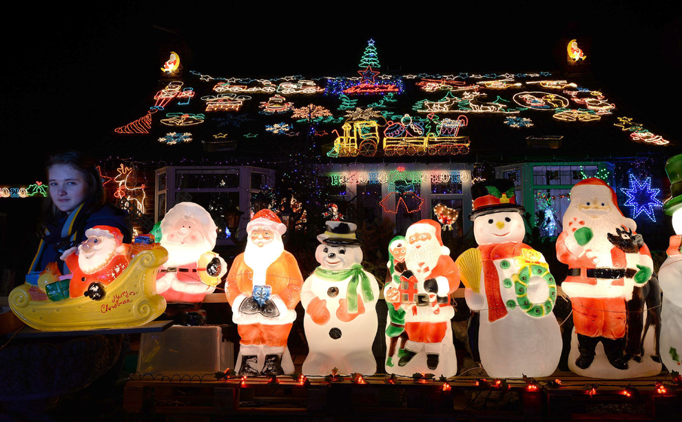 Nos gusta la navidad las luces iluminan el mundo - Renos de navidad con luces ...
