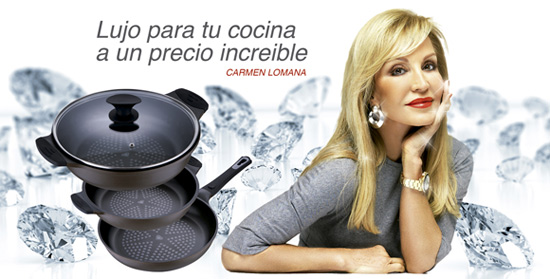 Carmen Lomana, imagen de la prestigiosa marca de cocina Bergner