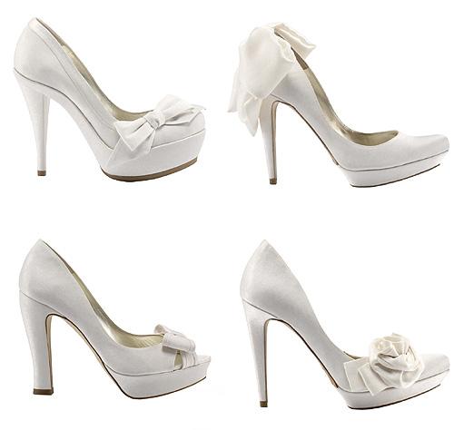 Zapatos de novia vestido blanco