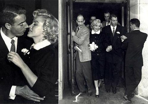Novias con magia: La boda de Marilyn Monroe y Joe DiMaggio