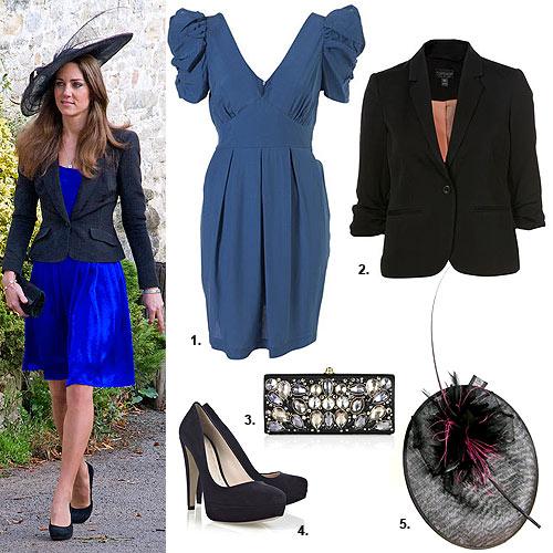Vestido azul y negro boda