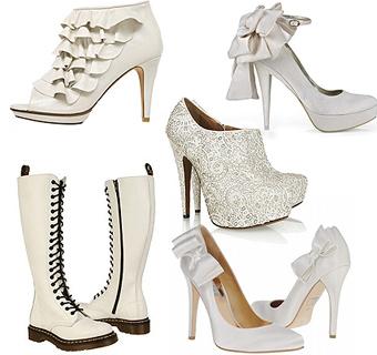 Zapatos para novias: Las huellas más 'blancas' del invierno