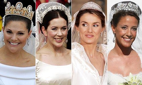 Diademas 'reales': Así han sido algunas de las tiaras nupciales más espectaculares de las Princesas europeas