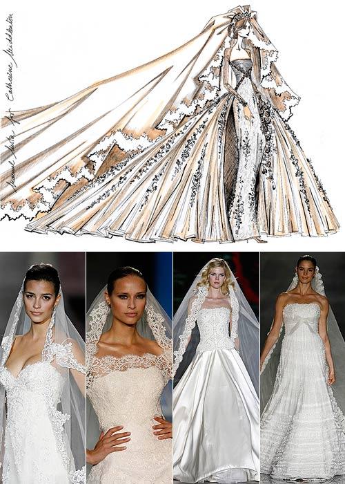 Así son los cuatro vestidos diseñados por Manuel Mota y Valentino para Kate Middleton