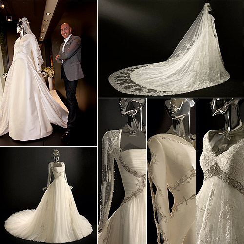 Manuel Mota presenta sus tres vestidos de princesa para Kate Middleton