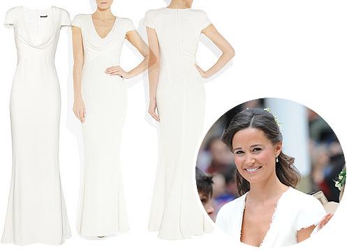 El vestido de Pippa Middleton ya es uno más de la colección de Alexander McQueen