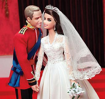 Guillermo de Inglaterra y Catherine Middleton se convierten en Ken y Barbie