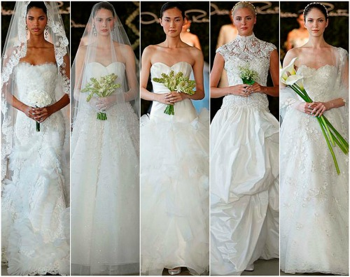 Oscar de la Renta deslumbra con su colección 2013 en la New York Bridal Week