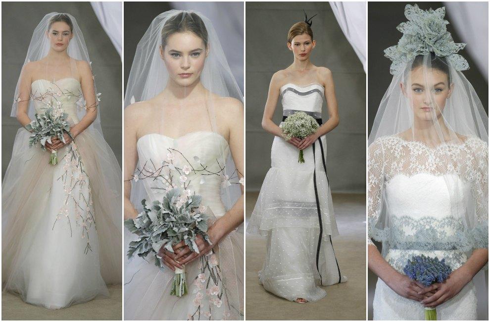 Tendencias 2013: Vestidos de novia a todo color
