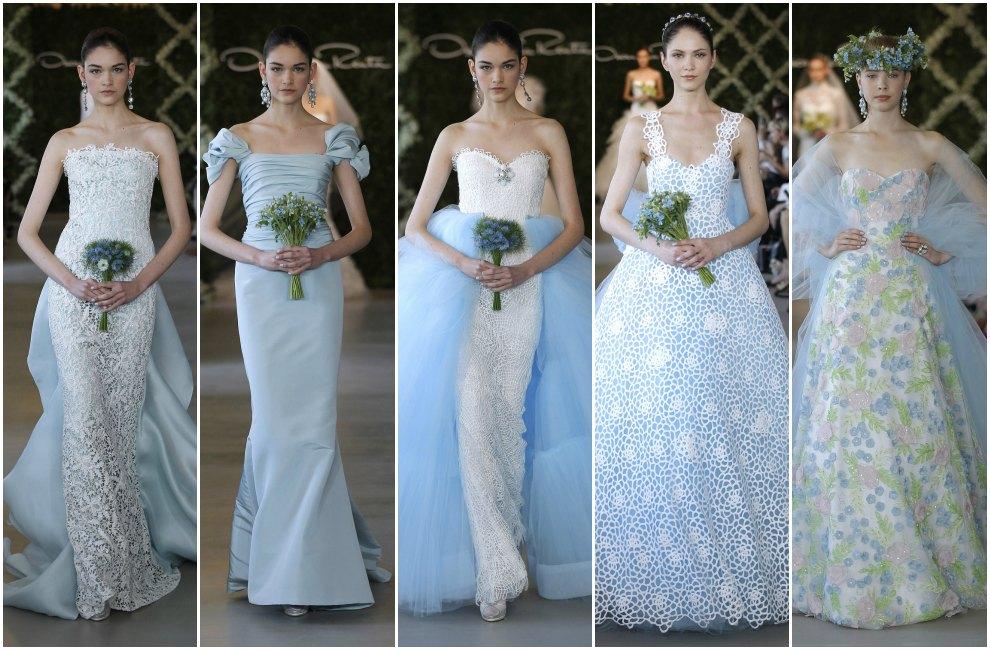 Vestidos de novia en color azul