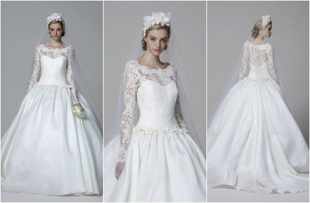 Vestidos de novia manga al codo