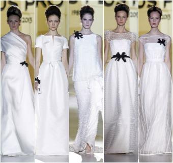 Barcelona Bridal Week 2014: Jesús Peiró homenajea la 'toile' de la novia en su desfile en Gaudí Novias