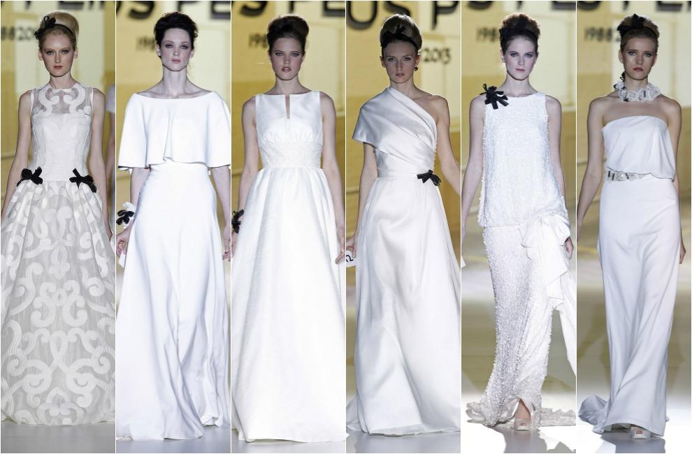 barcelona bridal week 2014: jesús peiró homenajea la 'toile' de la