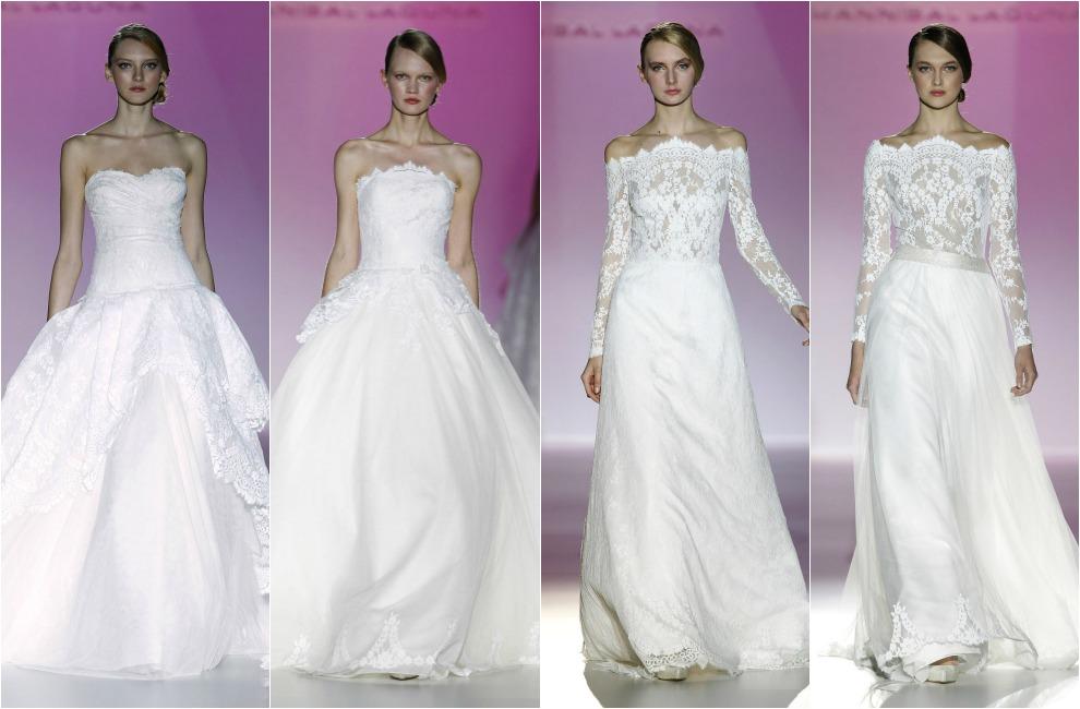 barcelona bridal week 2014: hannibal laguna, patricia avendaño y