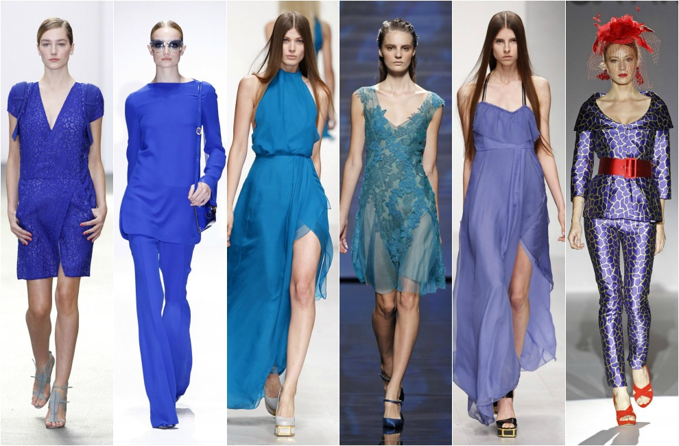 Color de abrigo para vestido azul