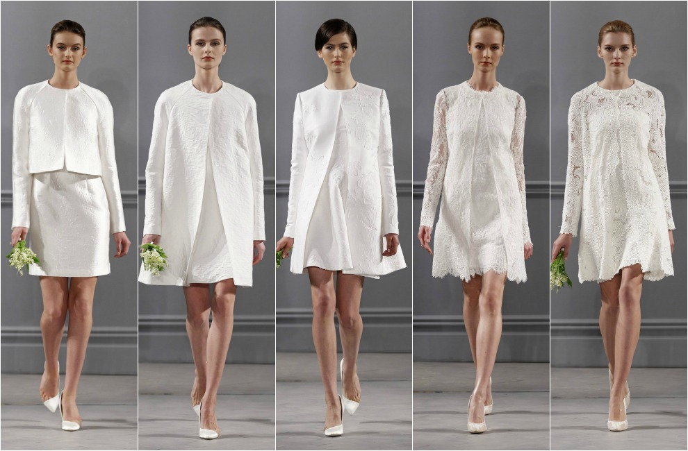 Vestidos novia cortos invierno