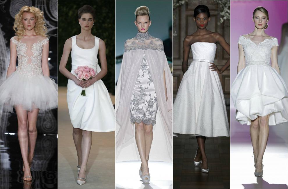 Vestidos de novia cortos en barcelona