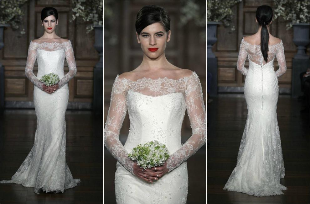 tendencias 2014: vestidos de novia con detalles de encaje