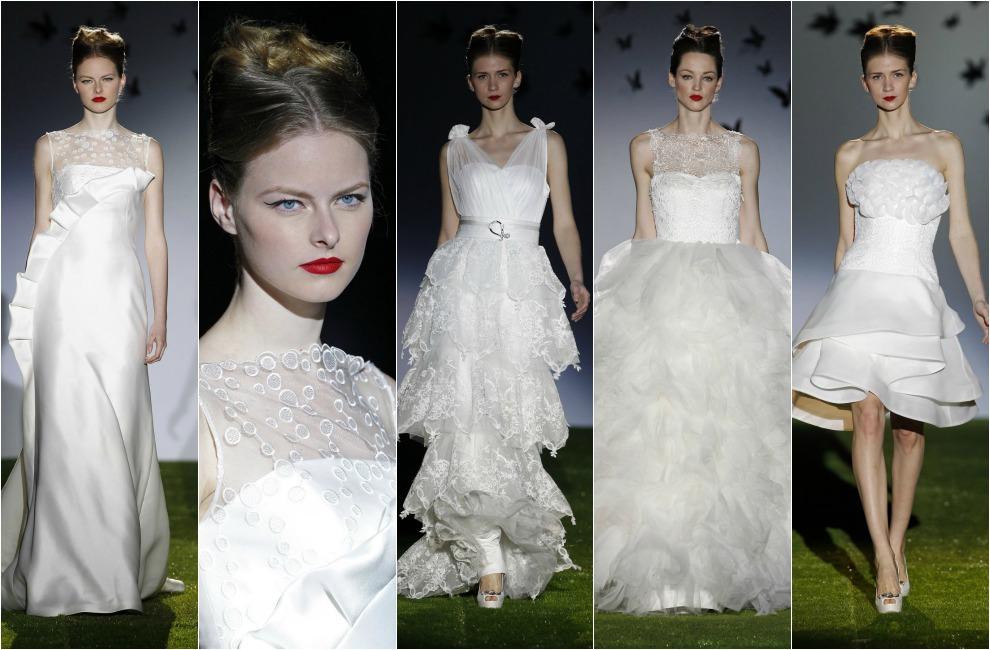 tendencias 2014: novias con 'ruffles', fruncidos y volantes