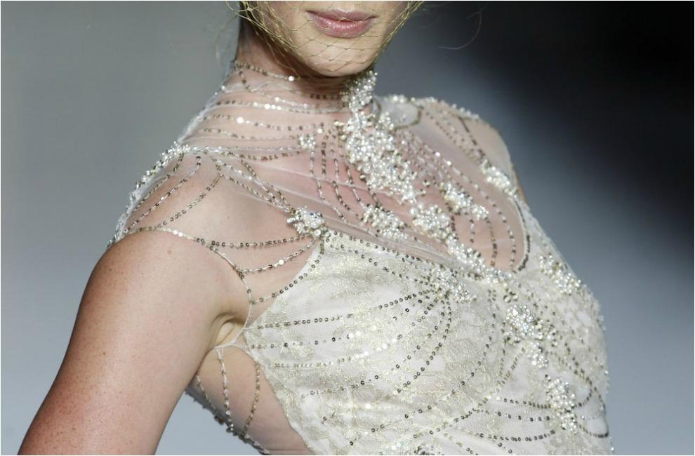 Apliques de pedreria para vestidos de novia