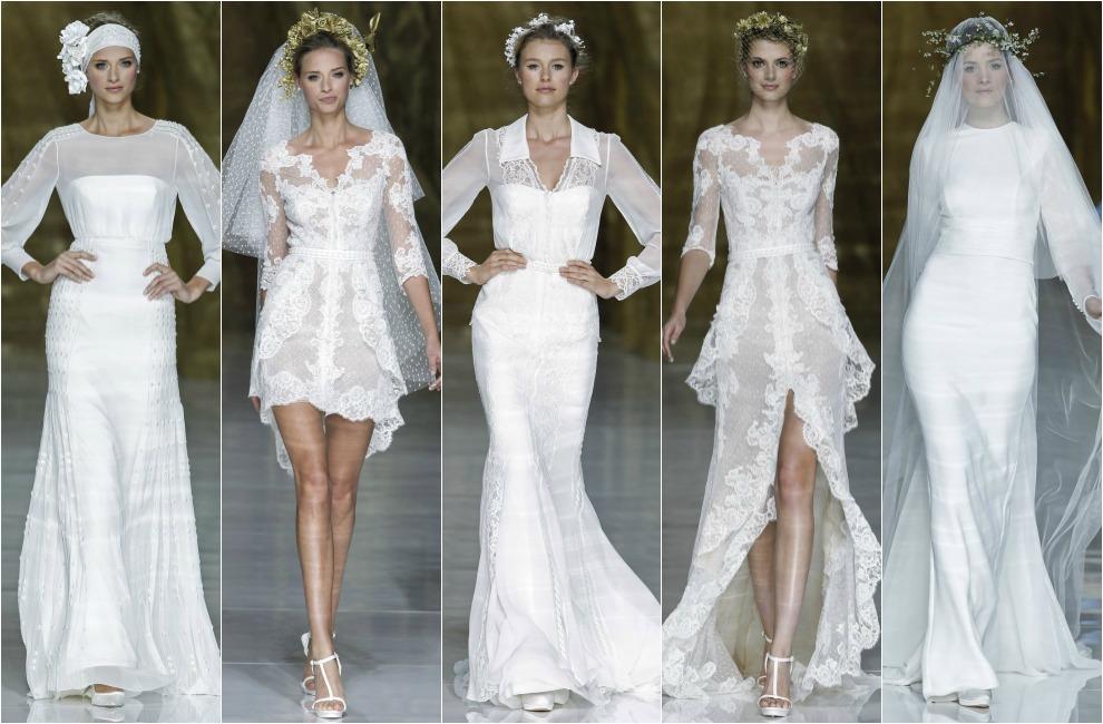 a28cb9a35 La colección 2014 de Pronovias es prolífera en trajes de novia con manga