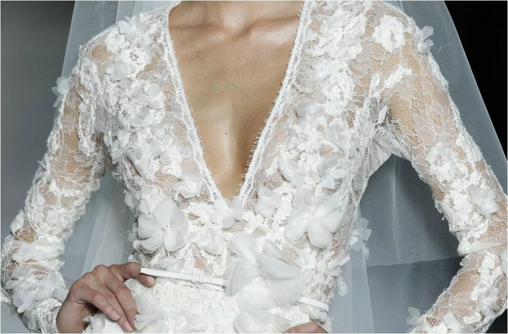 Vestido de novia con manga larga 2014