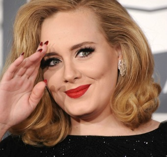 El impecable 'look' de fiesta de Adele