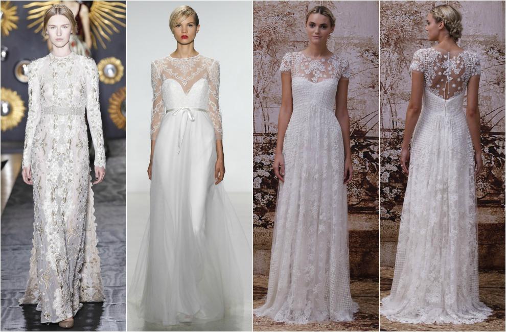 vestidos para novias en bodas de oro – los vestidos de noche son