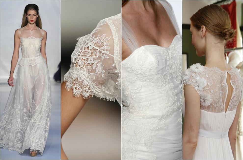 Vestidos de novia organza bordada